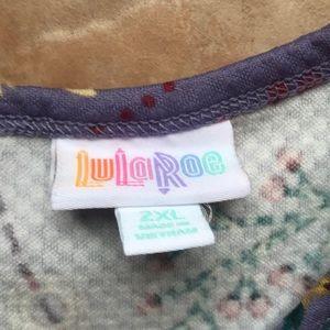 LuLaRoe Dresses - Lularoe Amelia Lavender Floral Dress Size 2X